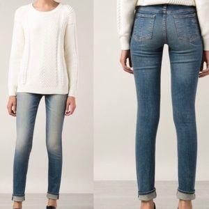 Rag & Bone mid-rise skinny jeans in surf